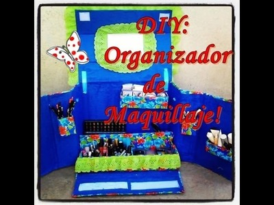 DIY organizador de maquillaje con caja de cartón!!!!!!