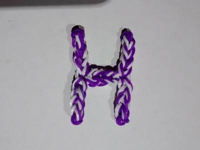 Hacer letra H con gomitas sin telar - Manualidades con Catira