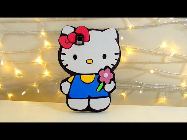 Manualidades DIY: funda de movil celular de hello kitty de goma eva o foamy | Isa ❤️
