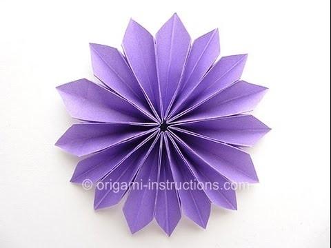 Origami flor yamaguchi muy facil, como hacer flor origami?