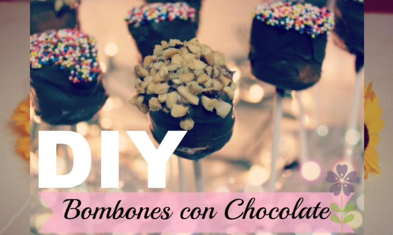 Paletas De Bombon Con Chocolate.Super Faciles