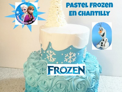 Pastel De Frozen En Chantilly Muy Fácil! - Madelin's Cakes