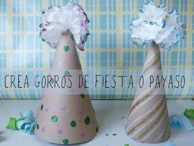 Sombrero de papel para fiesta o disfraz de payaso [Carnaval 2015]