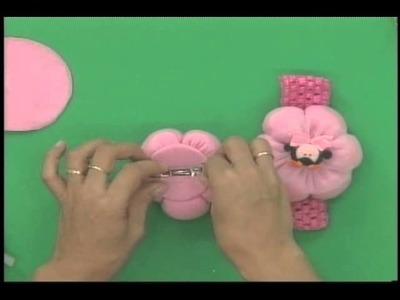 Sonia Franco. Programa Nuestra Casa. Flores de tela y cintas  2.5