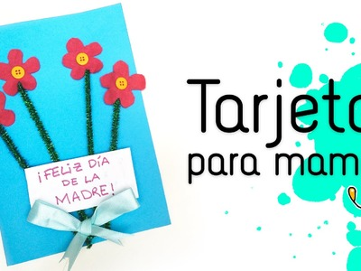 Tarjeta para el Día de la Madre. Postal de flores para mamá
