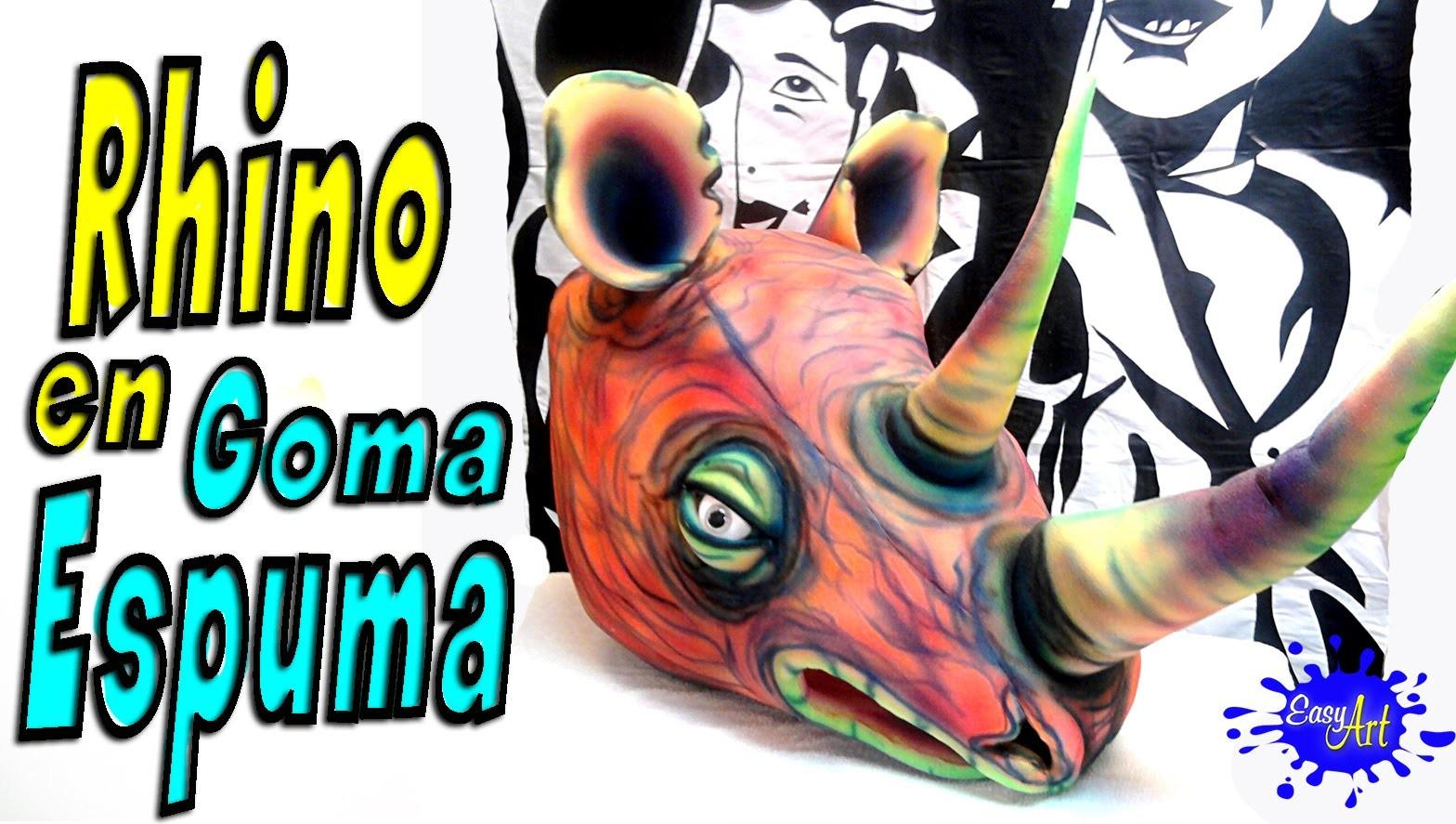 Animal masks - disfraz halloween- Rinoceronte en goma espuma - gorros de goma espuma
