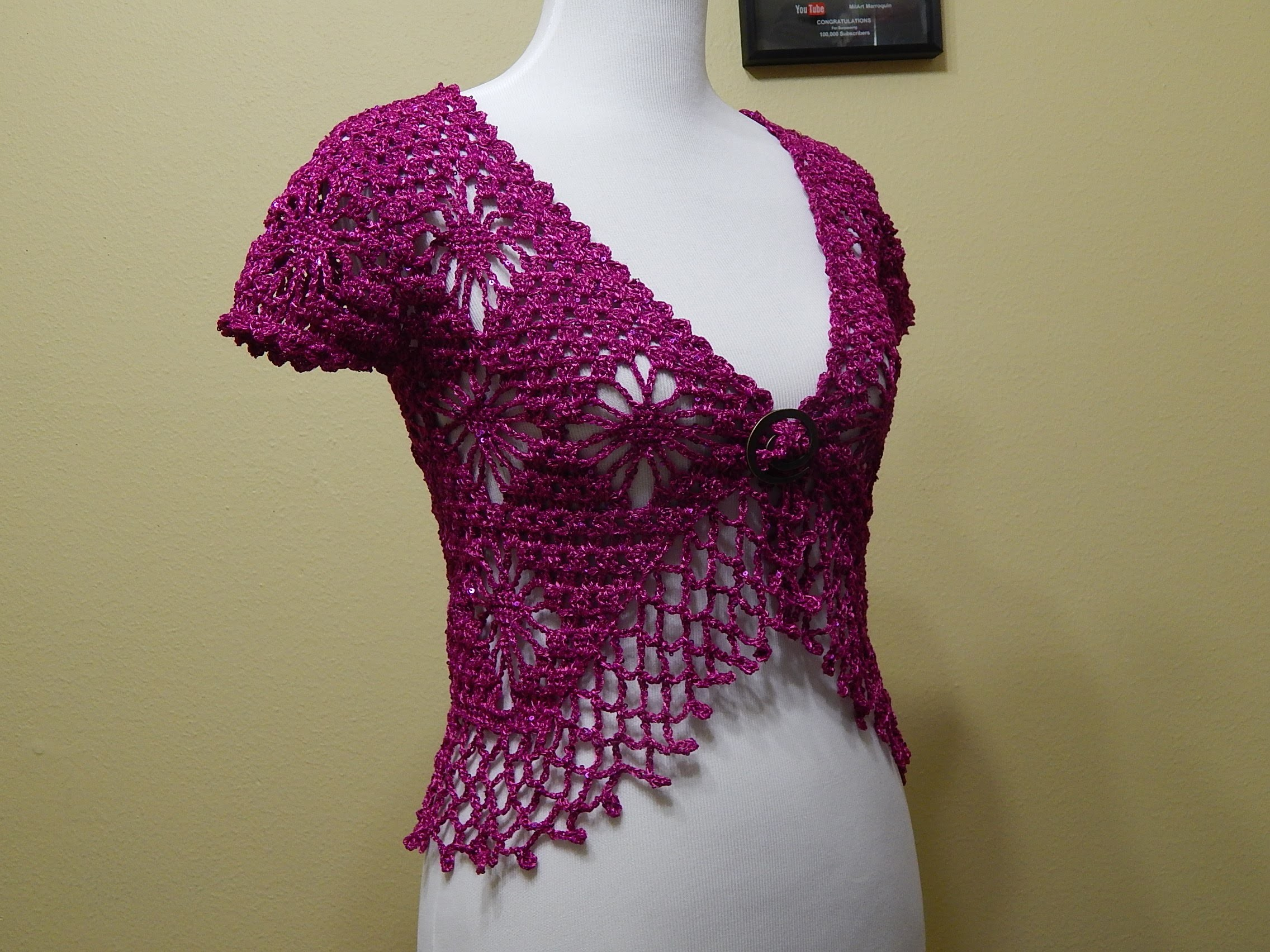 Bolero Bugambilia Crochet parte 3 de 3