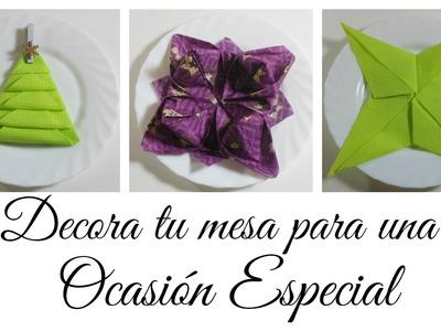 Cómo decorar tu cena especial | Figuras con Servilletas | Mundo@Party