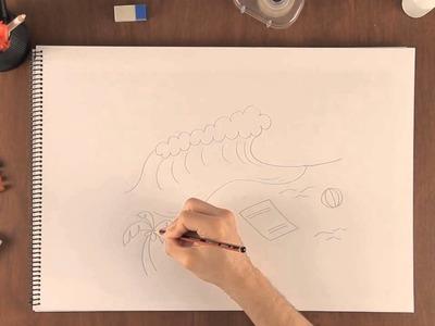 Cómo dibujar una escena de playa : Aprende a dibujar como un profesional
