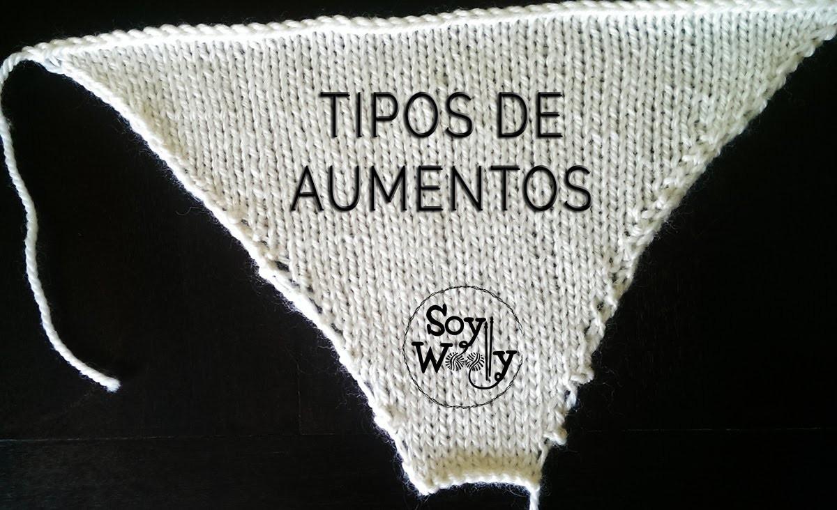 Cómo hacer AUMENTOS con dos agujas, punto, palillos, tricot