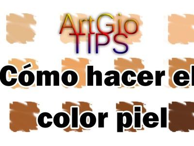 Cómo hacer color piel en diferentes tonalidades *ArtGio TIPS*