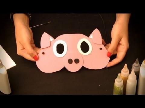 Cómo hacer un antifaz de cerdo : Antifaces de animales para niños