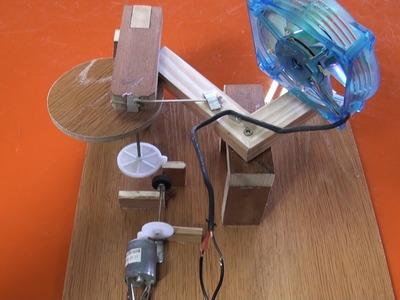 Como hacer un ventilador con movimiento