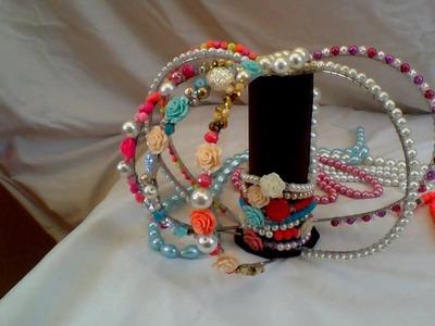 Como hacer una diadema con perlas |CREACIONES ROSA ISELA