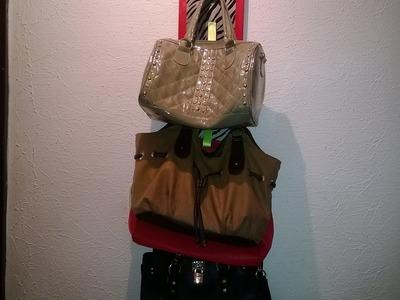 DIY colgador de bolsas!!