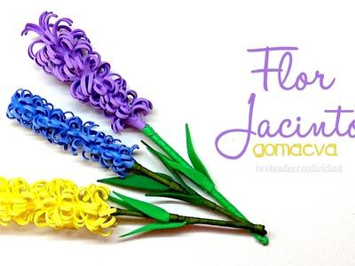 DIY : Flor de Jacinto en goma eva.foamy