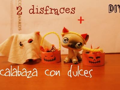 ☠DIY Halloween- 2 disfraces + Calabaza con dulces!☠