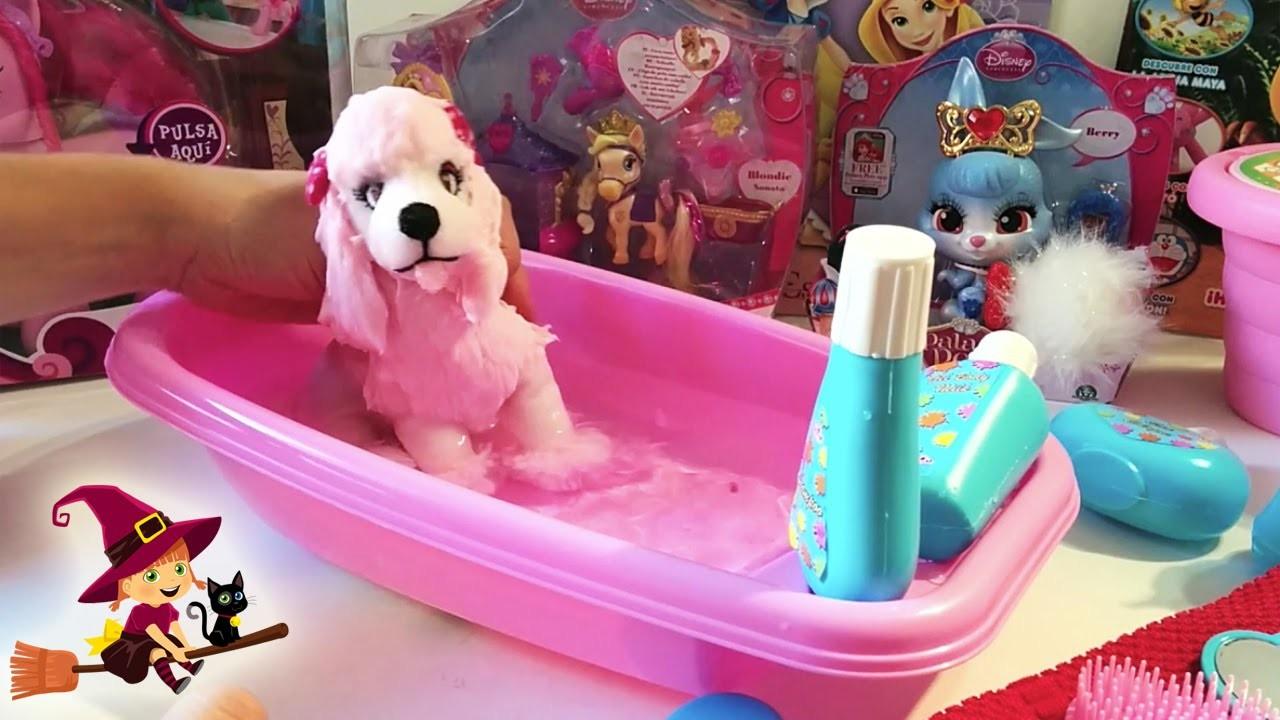 Juguetes de Baño | Bañera con accesorios de baño | Perro de peluche