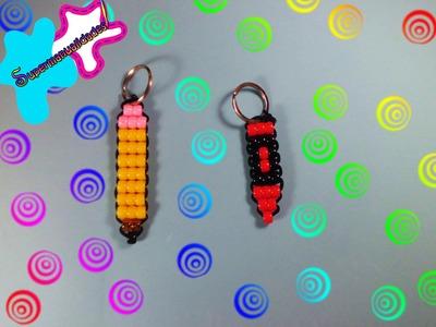 Llaveros de lápiz y crayola con cuentas kandi (Muy fácil) ◖SUPERMANUALIDADES◗