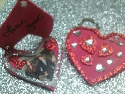 Manualidades Llavero Portaretrato  dia Amor y Amistad. Picture frame keychain - Valentine's Day