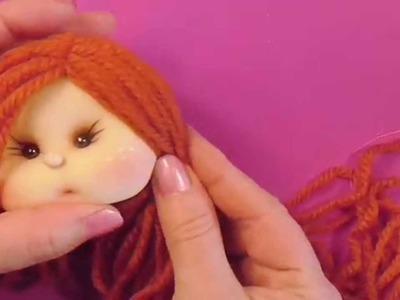 Muñeca de comunion ,peinado 4.5,manualilolis, video- 75