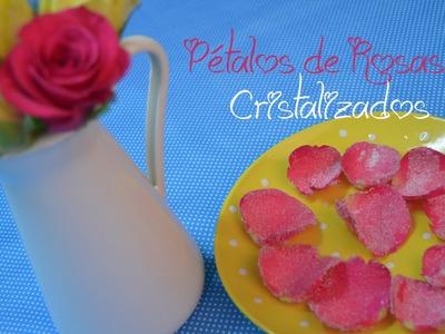 Pétalos de rosas Cristalizadas