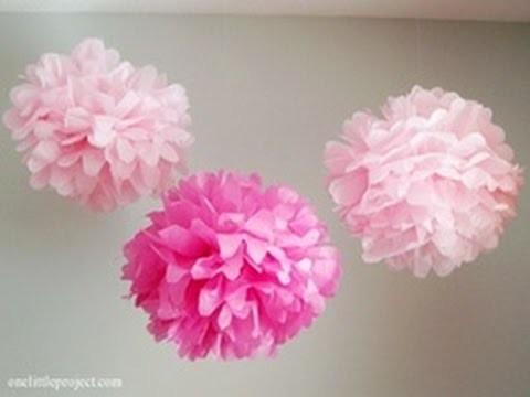Pom poms o flores de papel! :D