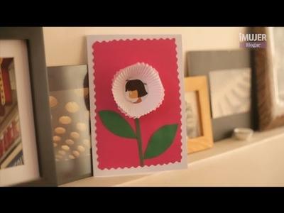 Recicla pirotines y haz una tarjeta para mamá | Manualidades para el día de la madre | @iMujerHogar