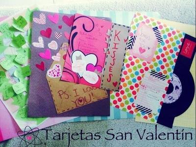 SAN VALENTIN ♥ 8 TUTORIALES fáciles • Decora tu tarjetas para NOVIO Y AMIGAS ♥ PARTE 2