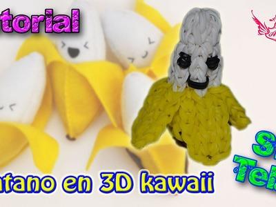 ♥ Tutorial: Platano en 3D (sin telar) ♥