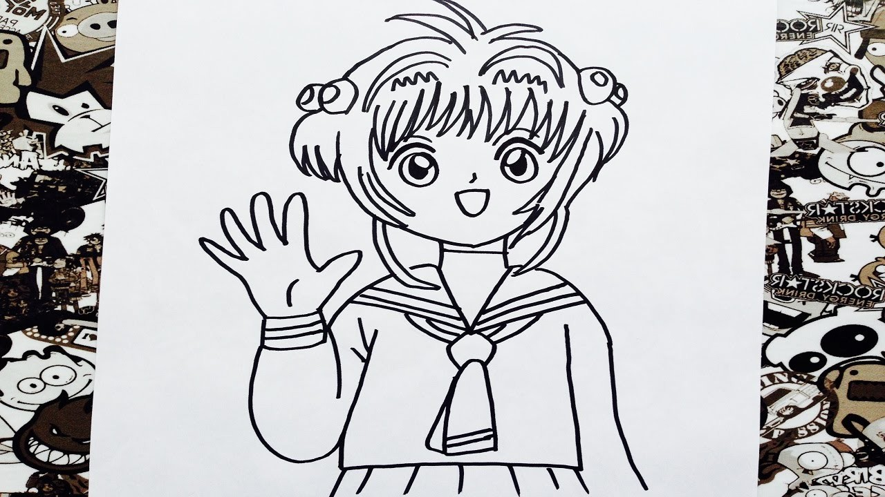 Como dibujar a sakura | how to draw sakura card captor