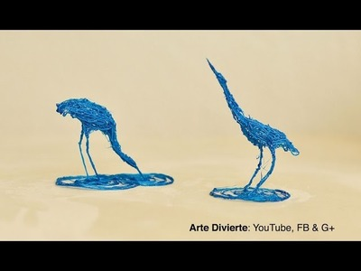 Cómo dibujar una garza en 3D - Realmente 3D - Escultura