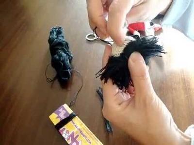 Cómo poner pelo a un amigurimi