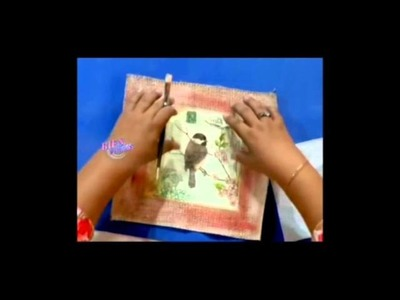 Decoupage sobre arpillera - Sonia Núñez en Bienvenidas Tv