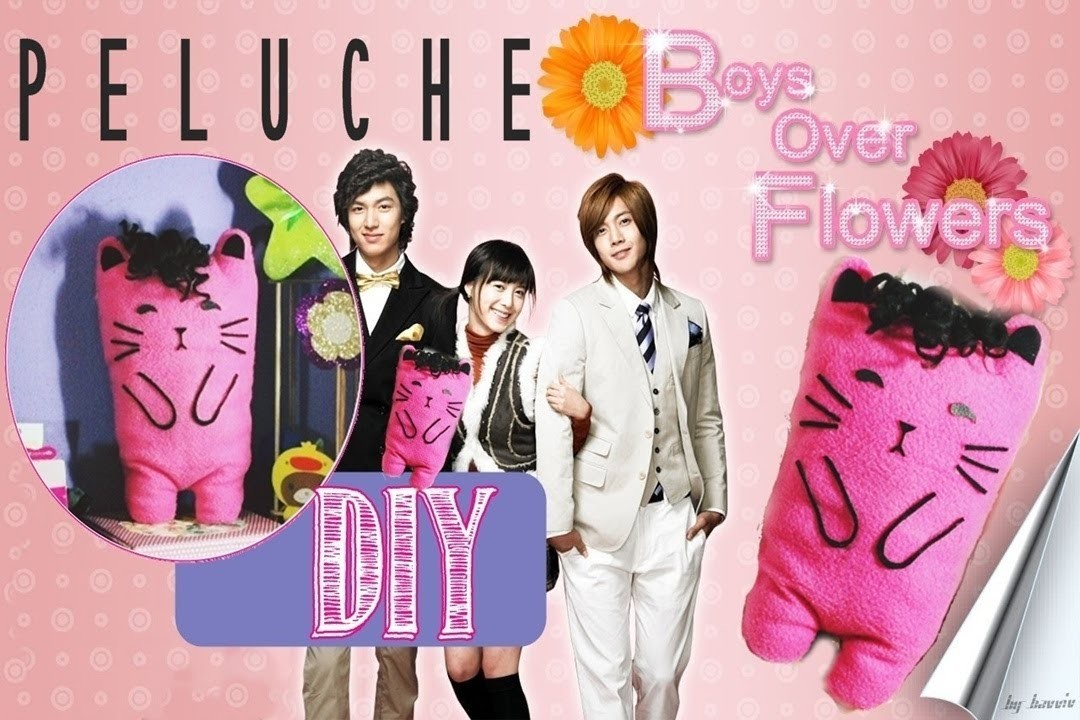 DIY: Cat Pink Doll - BoysOverFlowers ♥ Gatito Peluche