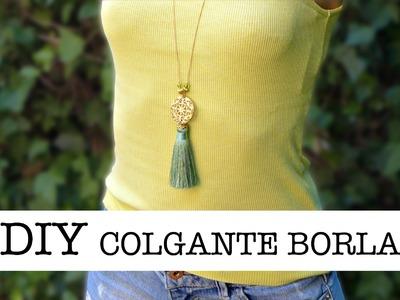 DIY Colgante con Borla | DIY Tassel Pendant Necklace