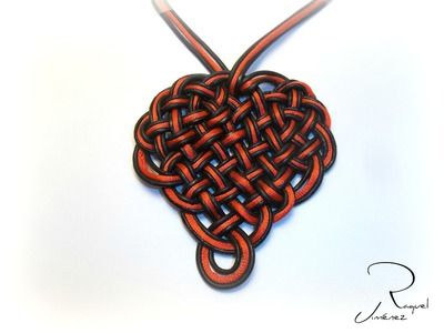 DIY como hacer un nudo celta con forma de corazón How to make a Celtic knot heart