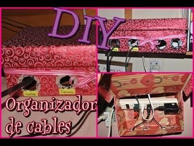 DIY organizador de cables