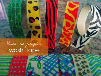 Haz tu propia washi tape