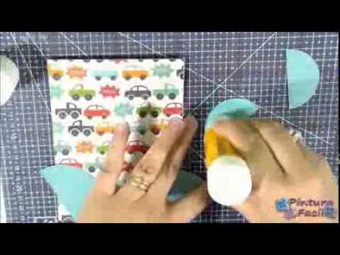 Libro De Pintura Para Navidad-Como hacer Invitaciones para Baby Shower DIY Manualidades para Baby Sh