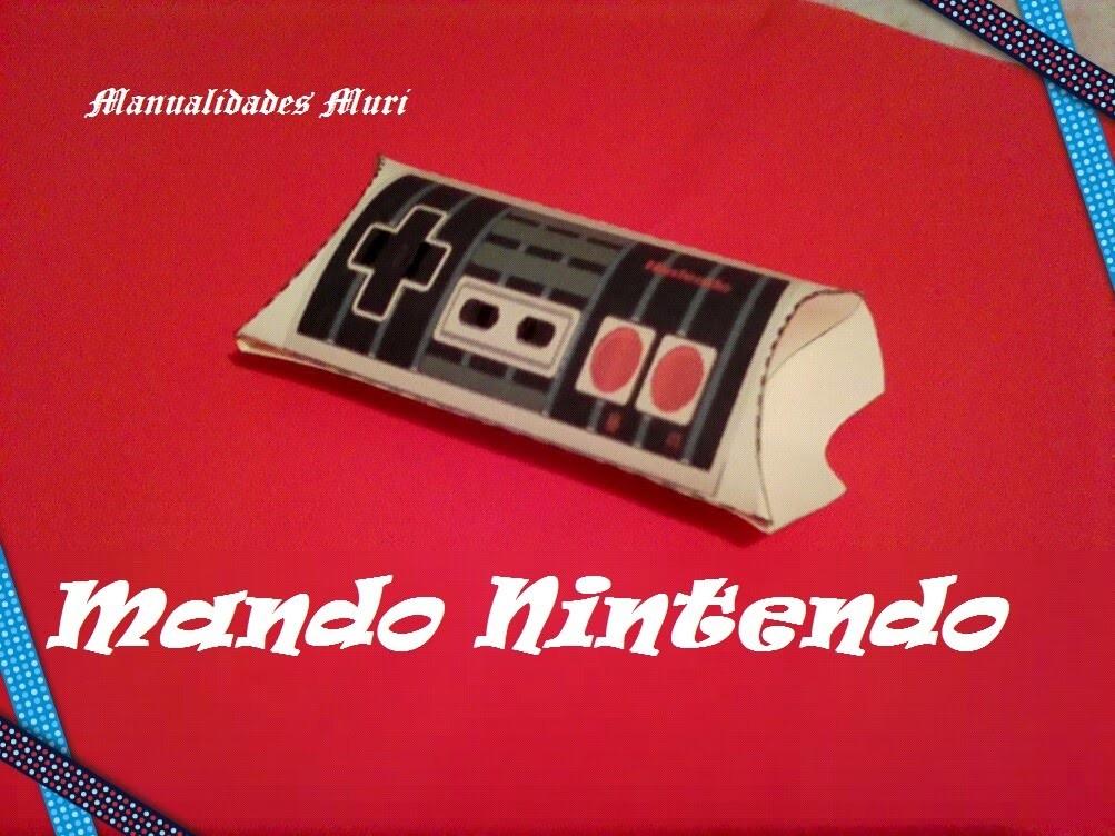 Manualidades, Caja Vintage Mando Nintendo. Pillow box.