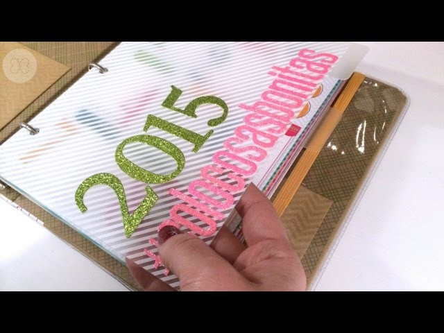 My Creative planner. How to make glitter letters with the Big Shot