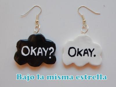 "Pendientes Fimo ""Bajo la misma estrella"" - The fault in our stars earrings"
