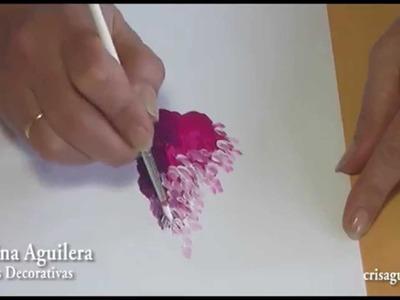 Pintar glicinias , painting glicinas