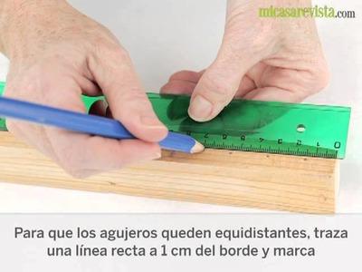 Portalapices de madera. Manualidades