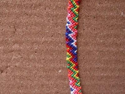 Pulsera macramé zig zag (nivel avanzado) - Zig zag macrame bracelet
