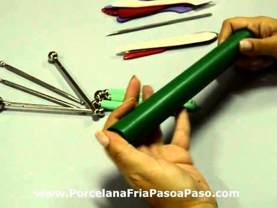 Repasando conceptos: Las herramientas y el teñido de la porcelana fria