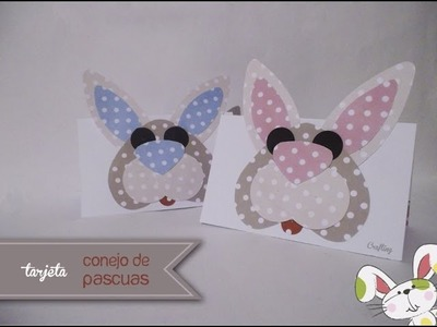 Tarjeta Conejo de Pascuas. mensaje express para regalar