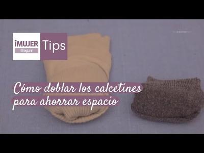 Tips Hogar | Cómo doblar los calcetines para ahorrar espacio | @iMujerHogar