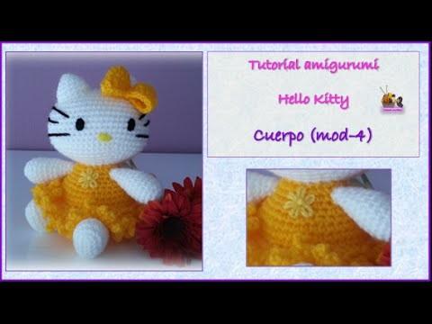 Tutorial amigurumi Hello Kitty - cuerpo (mod-4)